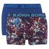 Bjorn Borg Men's Black Garden 2 Pack Boxer Shorts - Blue: Image 1