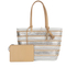 Loeffler Randall Women's Beach Tote Bag - White/Silver/Natural: Image 1