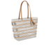 Loeffler Randall Women's Beach Tote Bag - White/Silver/Natural: Image 2