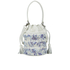 Loeffler Randall Women's Mini Industry Perforated Bucket Bag - Porcelain Print/White: Image 5