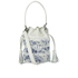 Loeffler Randall Women's Mini Industry Perforated Bucket Bag - Porcelain Print/White: Image 1