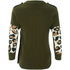 Marc by Marc Jacobs Women's Military Leopard Sweatshirt - Army Green: Image 2