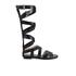 MICHAEL MICHAEL KORS Women's Darby Vachetta Knee High Gladiator Sandals - Black: Image 1