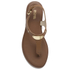 MICHAEL MICHAEL KORS Women's MK Plate Thong Flat Sandals - Luggage: Image 5