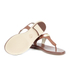 MICHAEL MICHAEL KORS Women's MK Plate Thong Flat Sandals - Luggage: Image 8