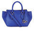 Diane von Furstenberg Women's Voyage Small Double Zip Leather Tote Bag - Blue: Image 1