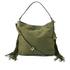 Diane von Furstenberg Women's Voyage Boho Nubuck Fringe Shoulder Bag - Olive: Image 1