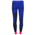 adidas Women's Stella Sport Gym Logo Tights - Blue: Image 4