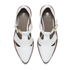 Hudson London Women's Liv Leather Pointed Toe Flats - White: Image 2