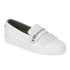 Hudson London Women's Beata Tassle Leather Slip On Trainers - White: Image 3