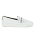 Hudson London Women's Beata Tassle Leather Slip On Trainers - White: Image 1