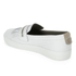 Hudson London Women's Beata Tassle Leather Slip On Trainers - White: Image 4