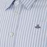 Vivienne Westwood MAN Men's Classic Stretch Stripe Long Sleeve Shirt - Blue Stripe: Image 3