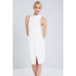 Lavish Alice Women's Cross Strap Tie Detail High Neck Midi Dress - White: Image 2