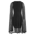 Lavish Alice Women's Lace Cape Mini Shift Dress - Black: Image 3