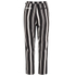 Lavish Alice Women's Stripe Crossover D-Ring Peg Leg Trousers - Black/Cream/Burgundy: Image 4