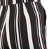 Lavish Alice Women's Stripe Tie Side Shorts - Black/Cream/Burgundy: Image 6