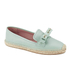 REDValentino Women's Eyelet Bow Leather Espadrilles - Mint: Image 2