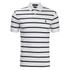 Polo Ralph Lauren Men's Short Sleeve Slim Fit Striped Polo Shirt - White/Black: Image 1