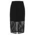 Finders Keepers Women's Stand Still Skirt - Lattice Black: Image 1