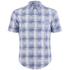 BOSS Green Men's Bicron Check Shirt - Medium Blue: Image 1