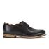 Grenson Women's Dulcie Leather Wave Top Derby Shoes - Black: Image 1