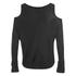VILA Women's Count Cold Shoulder Jumper - Black: Image 2