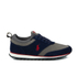 Polo Ralph Lauren Men's Ponteland Suede Sports Trainers - Newport Navy/Charcoal Grey: Image 1