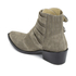 Toga Pulla Women's Buckle Side Suede Heeled Ankle Boots - Khaki Suede: Image 4