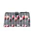 Lulu Guinness Women's Lipstick Print Double Make Up Bag - White/Black: Image 5