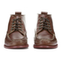 G.H. Bass & Co. Men's Camp Moc Ranger Pull Up Leather Boots - Mid Brown: Image 4