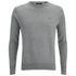 GANT Men's Light Weight Cotton Crew Neck Jumper - Grey Melange: Image 1