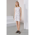 KENZO Women's Poly Cartoon Cactus Dress - White: Image 2