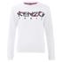 KENZO Women's Cactus Brushed Molleton Logo Sweatshirt - White: Image 1