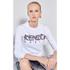 KENZO Women's Cactus Brushed Molleton Logo Sweatshirt - White: Image 2