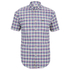 Lacoste Men's Short Sleeve Checked Shirt - Iodine: Image 1