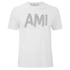 AMI Men's Front Logo Crew T-Shirt - White: Image 1