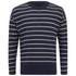 AMI Men's Oversized Crew Neck Sweatshirt - Navy/White: Image 1