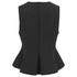 Alexander Wang Women's Peplum Shells Top with Front Lacing - Onyx: Image 2