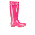 Hunter Women's Original Tall Gloss Wellies - Bright Cerise: Image 1