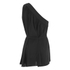 Helmut Lang Women's Stretch Silk Crepe Asymmetrical Top - Black: Image 2