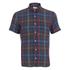 Oliver Spencer Men's Short Sleeved Eton Shirt - Pilford Multi: Image 1