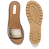 See By Chloé Women's Leather Slide Sandals - Gold: Image 5