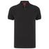 Luke Men's 2 Bob Note Mixed Fabric Polo Shirt - Jet Black: Image 1