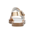 Paul Smith Shoes Women's Ilse Leather Double Strap Sandals - Vanilla Rodeo Metallic: Image 3