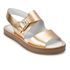 Paul Smith Shoes Women's Ilse Leather Double Strap Sandals - Vanilla Rodeo Metallic: Image 5