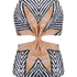 Mara Hoffman Women's Knot Front Cut Out Swimsuit - Starbasket Stone: Image 3