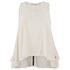 Maison Scotch Womens Sleeveless Top with Embroidery - White: Image 1