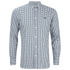 Maison Kitsuné Men's Checked Long Sleeve Shirt - Green Check: Image 1