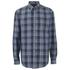 GANT Men's Heather Twill Long Sleeve Shirt - Indigo: Image 1